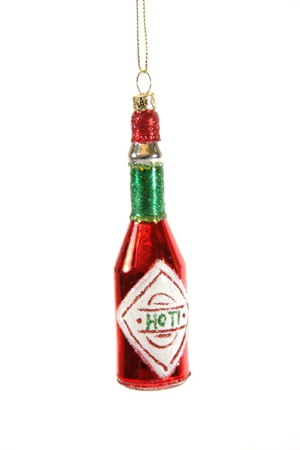Glitter Hot Sauce Ornament
