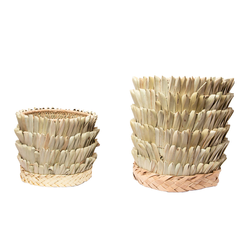 Green Lubani Palm Basket