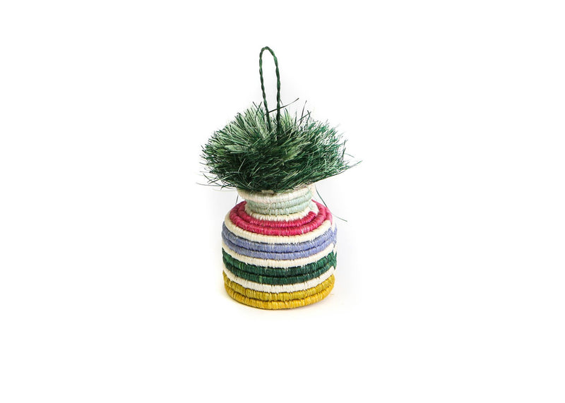 Banded Planter Ornament