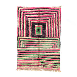 "5'4"" x 7'11"" Squares Moroccan Area Rug"