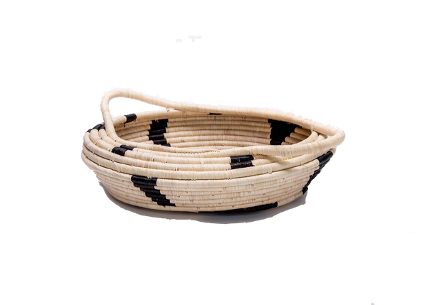 Black and Natural Spotted Basket