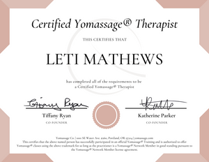 Post-Training Package | Yomassage® Therapist