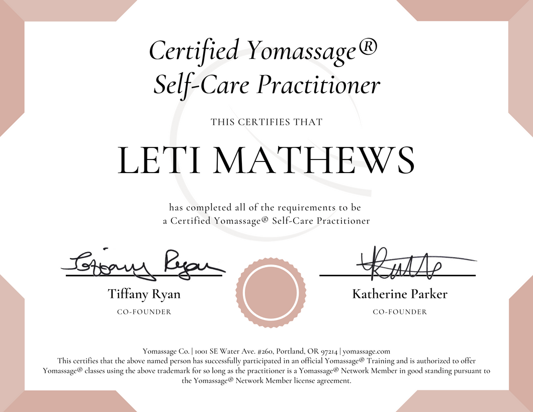 Post-Training Package | Yomassage® Self-Care