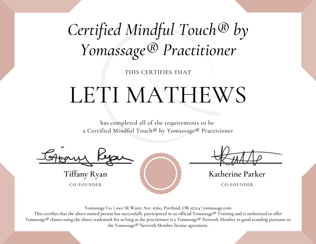 Post-Training Package | Mindful Touch® Practitioner