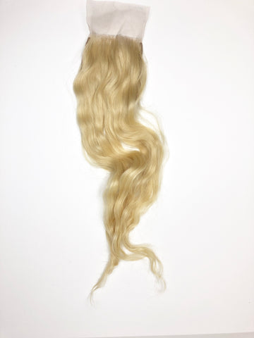 #613 Blonde Indian Wavy Closure