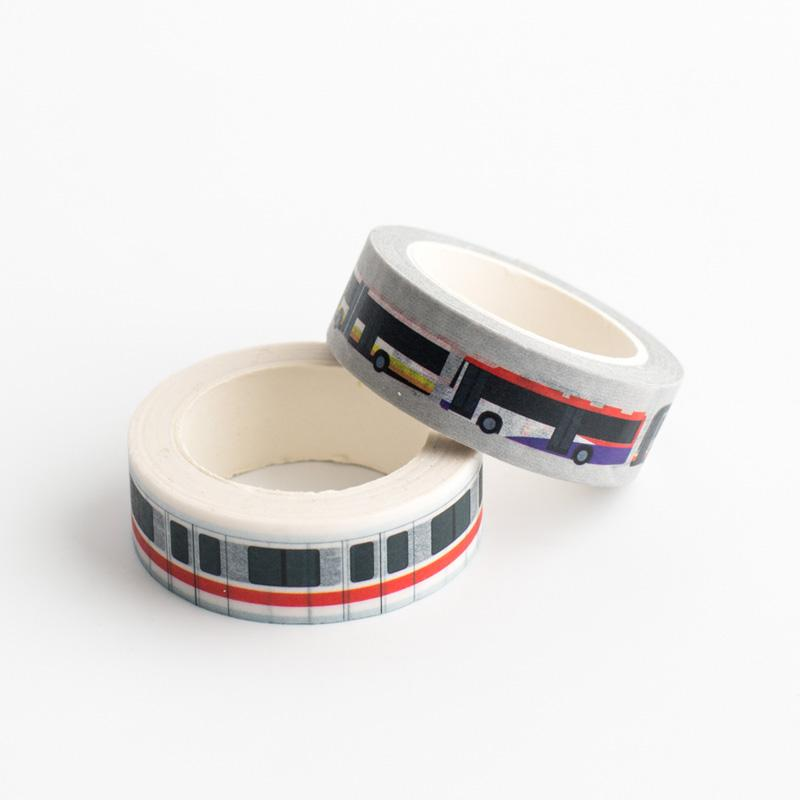 Washi Tapes - EZ-link: MRT + Bus