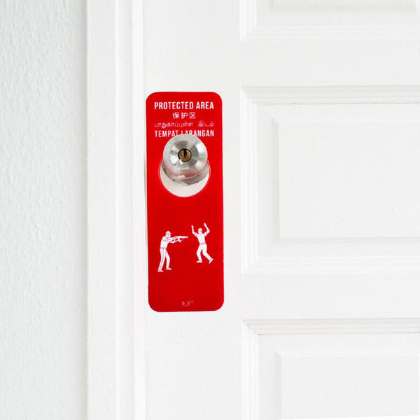Danger / Protected Area Door Hanger