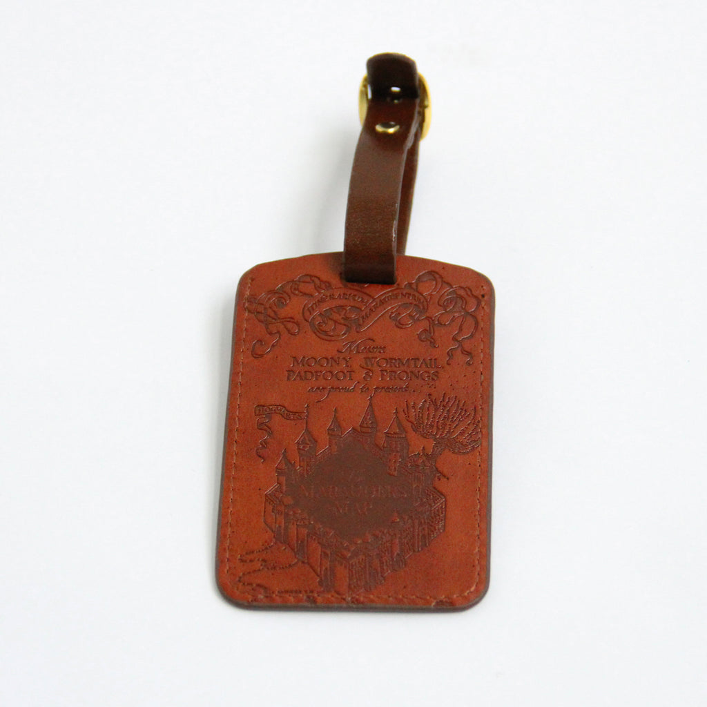 Marauders Map Leather Luggage Tag