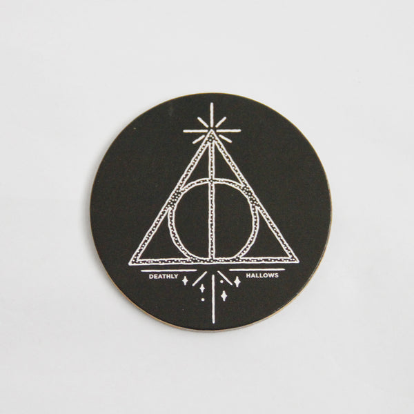 Harry Potter Cork Coaster: Deathly Hallows