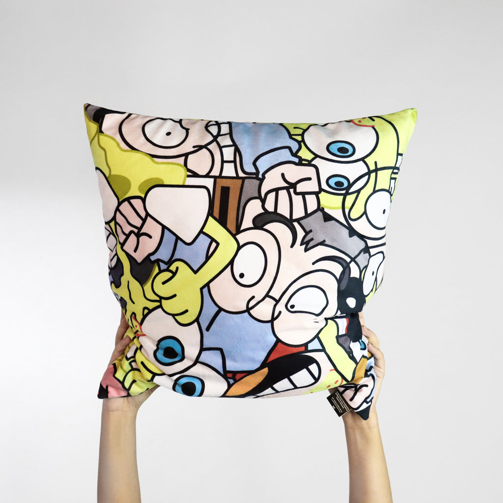 Mr Kiasu x Spongebob Squarepants Cushion Cover