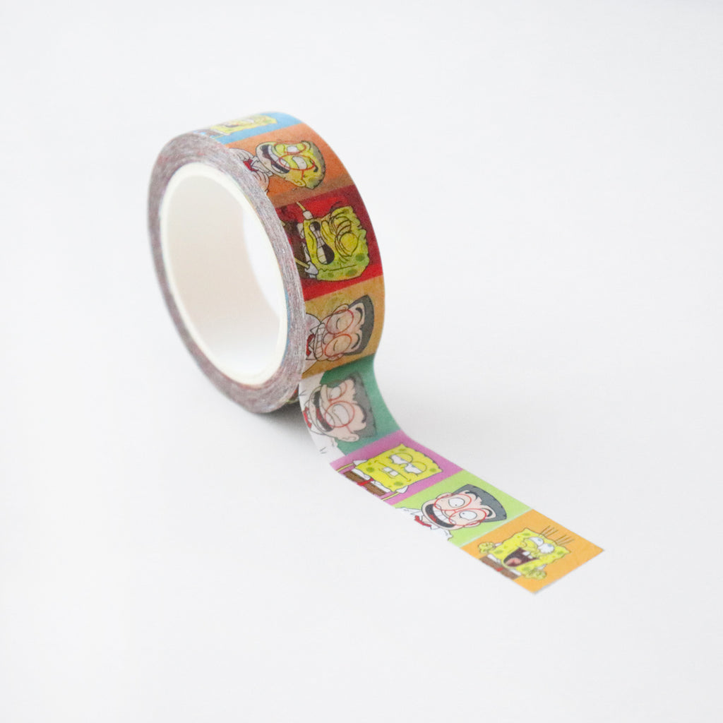 Mr Kiasu x Spongebob Squarepants Washi Tape