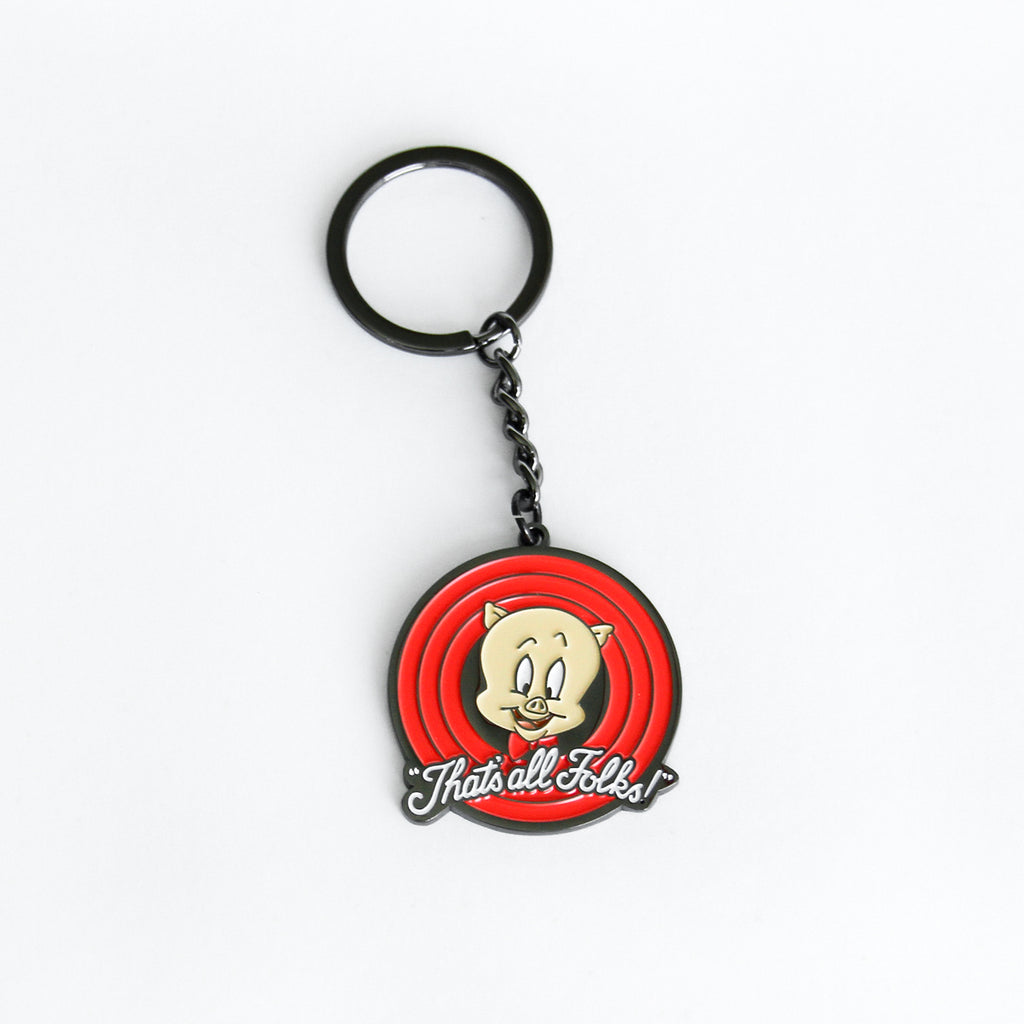 Looney Tunes Thats All Folks Keychain