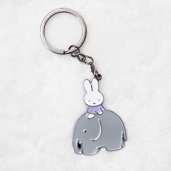 Miffy Badge Keychain - Elephant