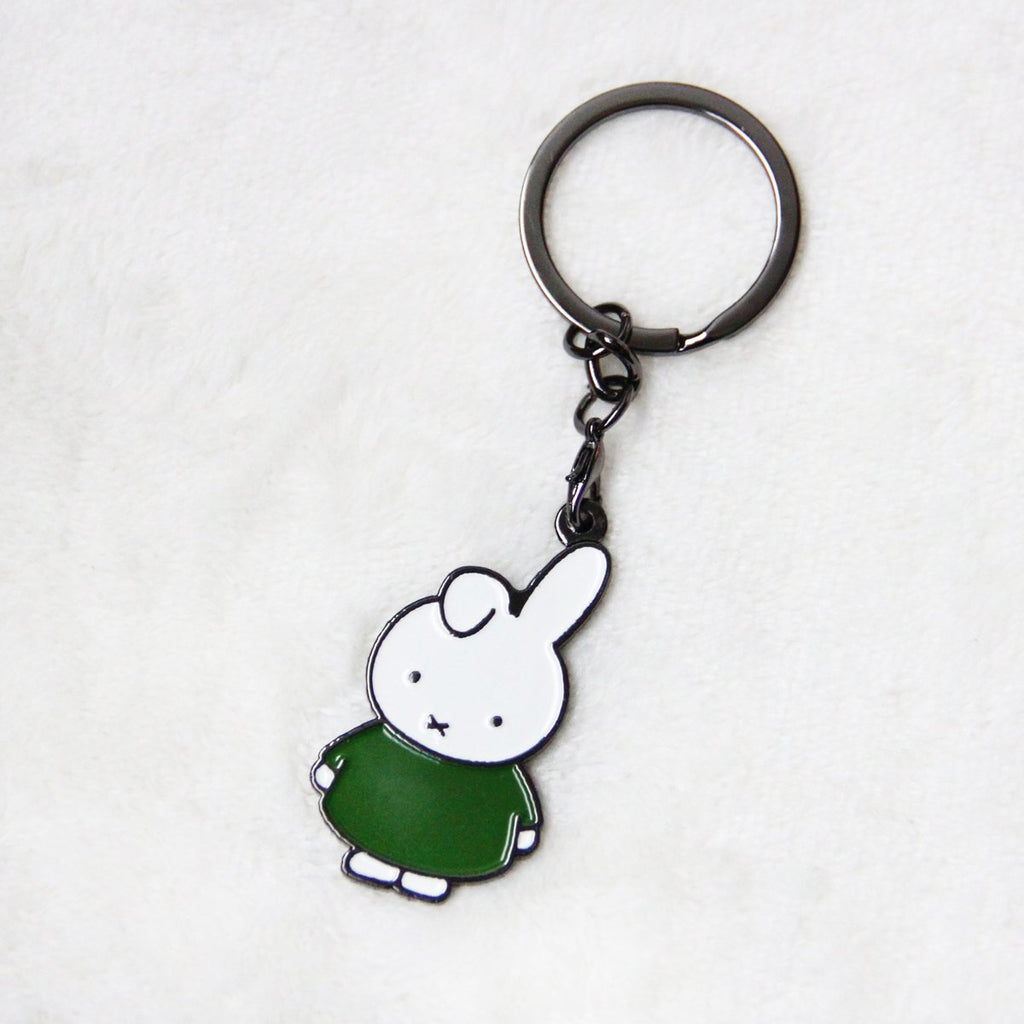 Miffy Badge Keychain - Green
