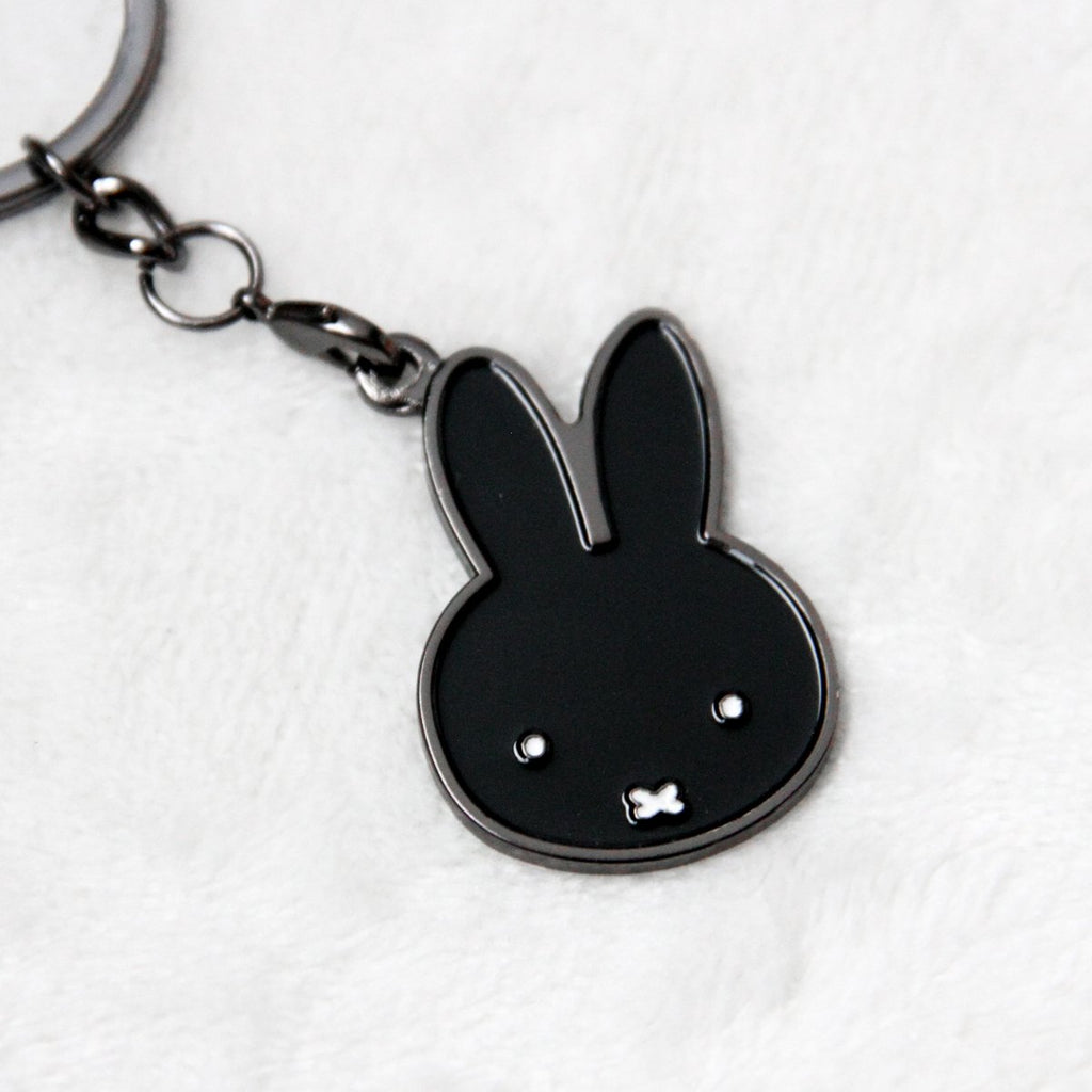 Miffy Badge Keychain - Noir