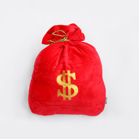 Red Money Bag Cushion