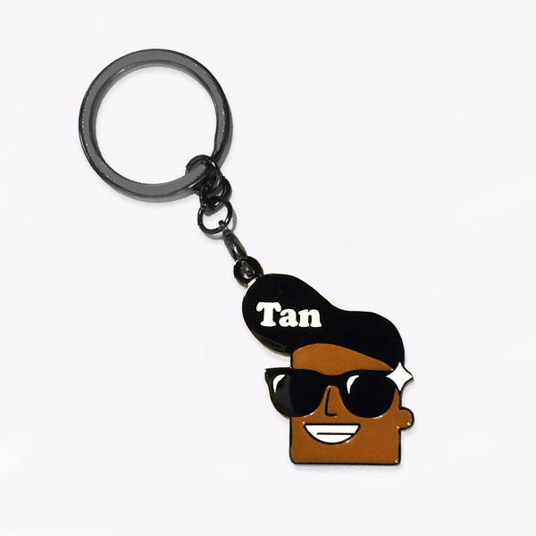 CLAN Badge Keychain - Tan