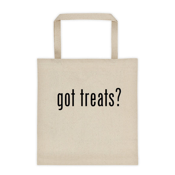 got treats?  Halloween Natural Canvass Tote bag - Perfect for Any Shopping Day of the Year