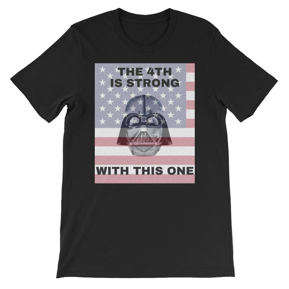 The 4th Is Strong With This One - Patriotic Star Wars Short-Sleeve Unisex T-Shirt