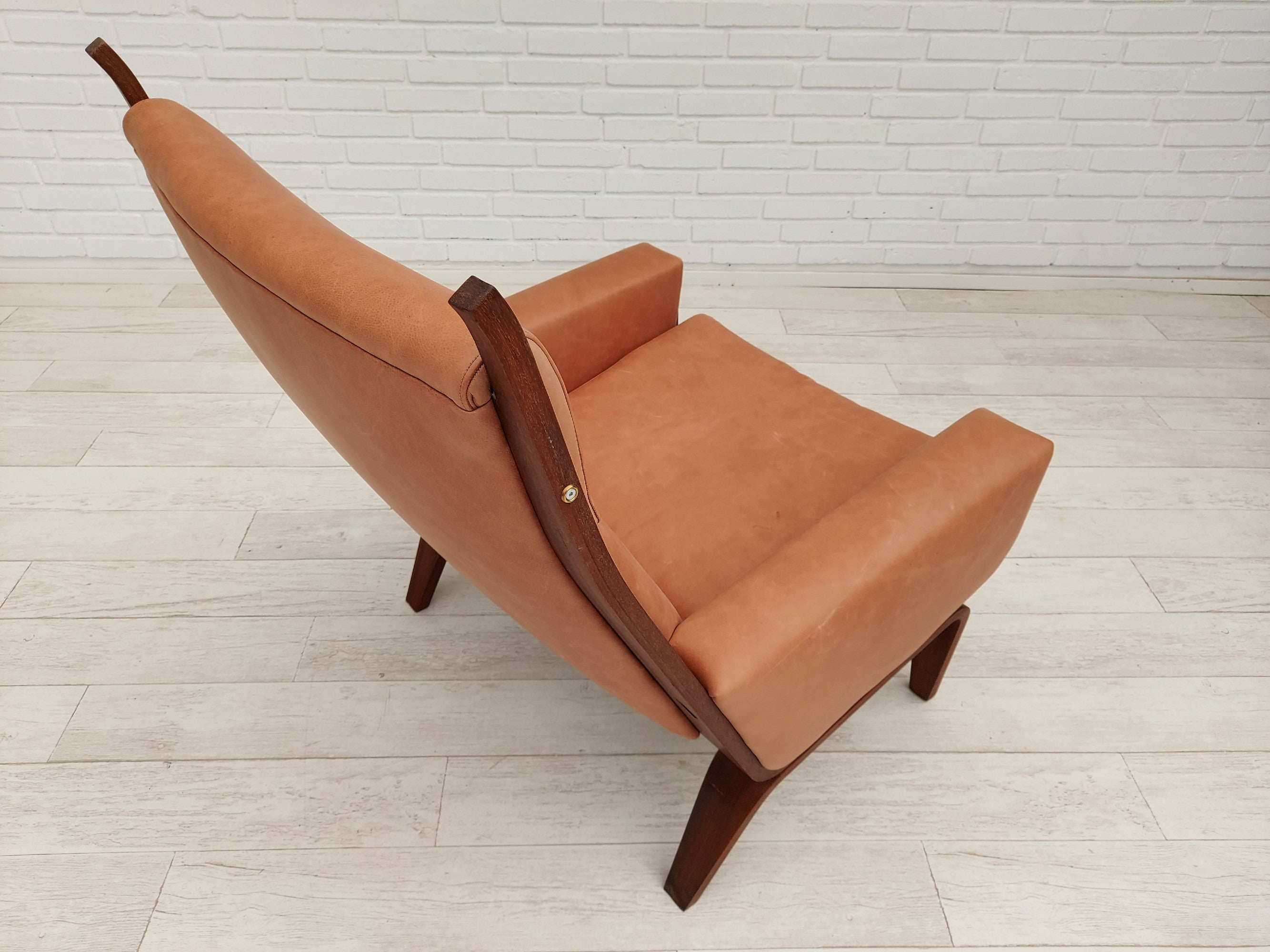 HJWegner, GE 501a, mahogany wood, 70s, leather, totally renovated