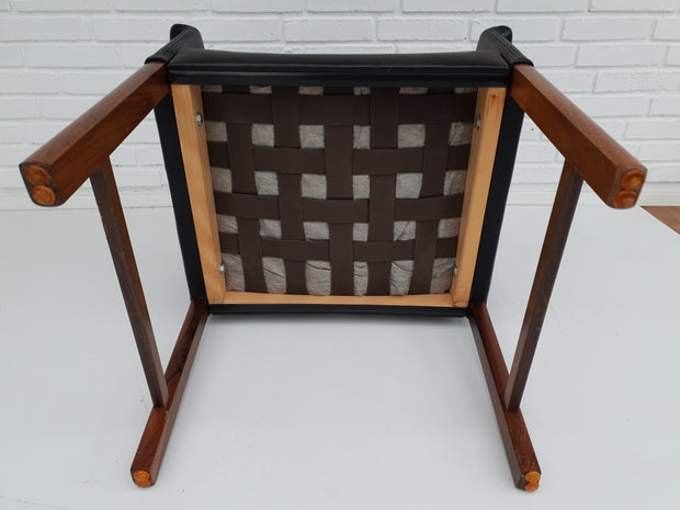 Danish conference chair by Hans Olsen, 60´s, original leather, solid rosewood