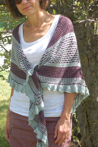 Winged Tip Shawl