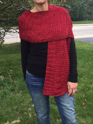 knitted scarf, knitted wrap