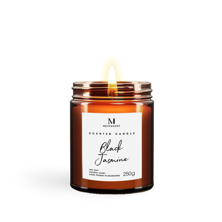 BLACK JASMINE SCENTED CANDLE