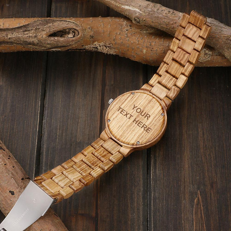 Custom Zebra All Wooden Watch