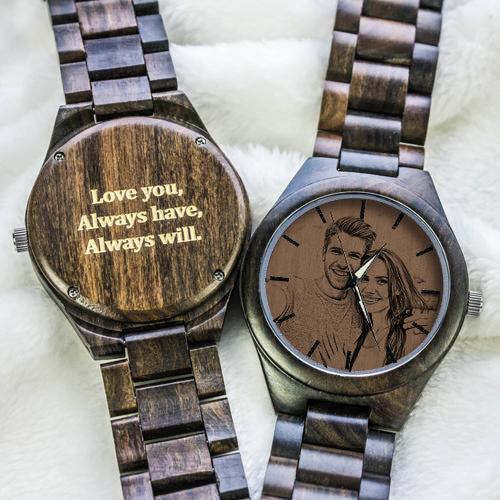 Custom Ebony All Wooden Watch