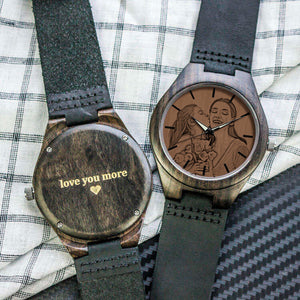 Personalized Ebony Wooden Watch