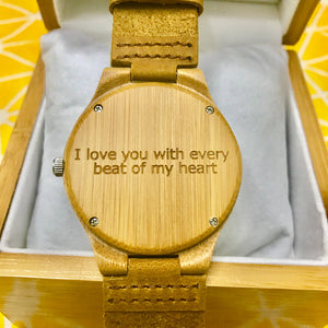 Personalized Photo Wooden Watch