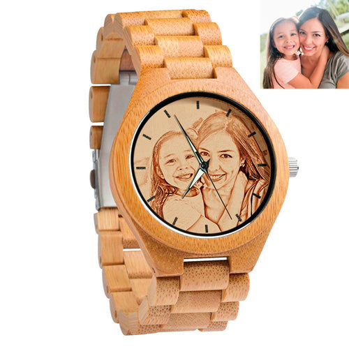 Personalized Bamboo All Wooden Watch