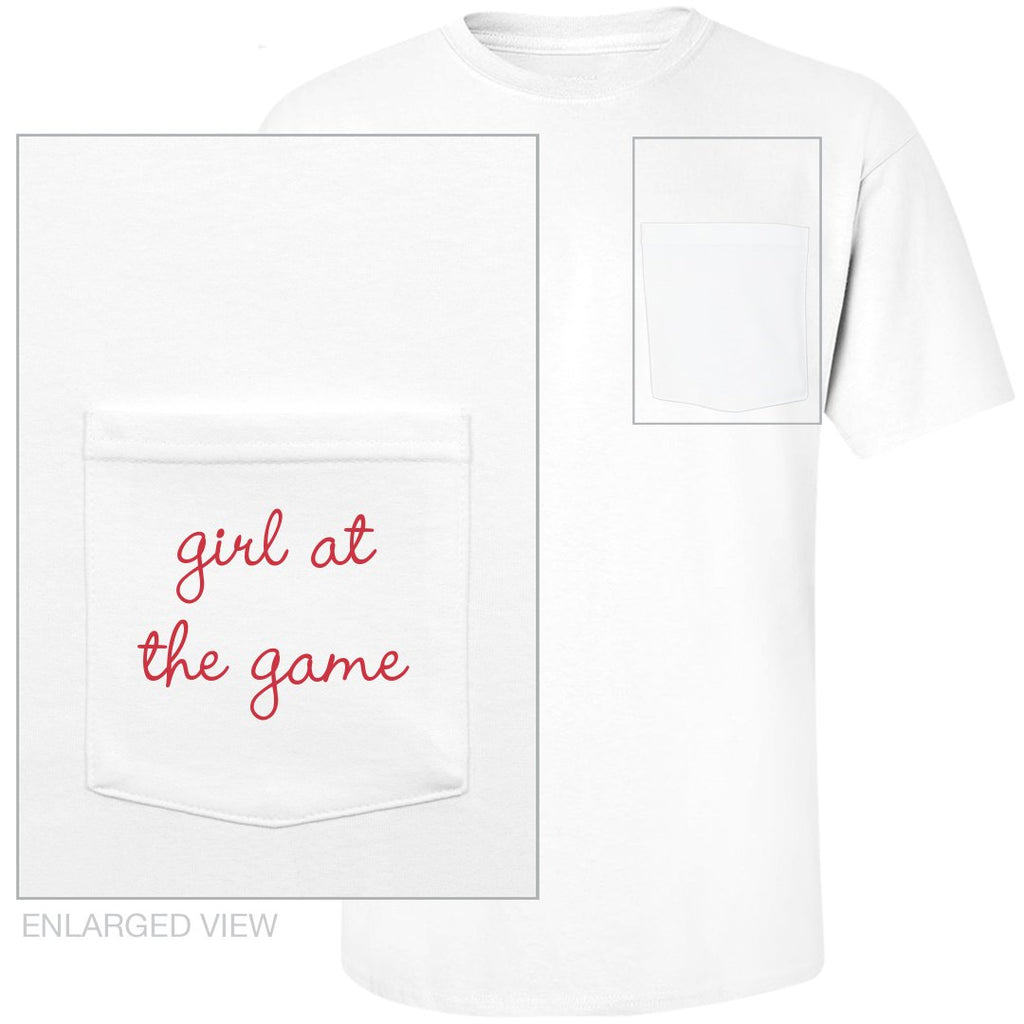 'Girl At The Game' Pocket Tee