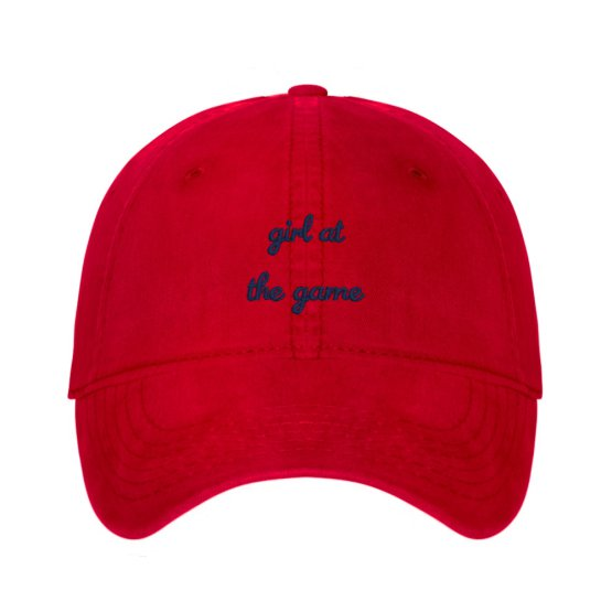 'Girl At The Game' embroidered dad hat
