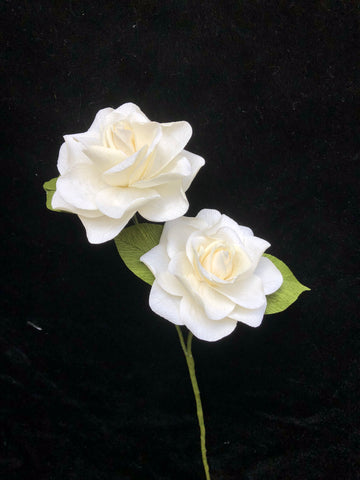 Handmade paper Gardenias in one stem