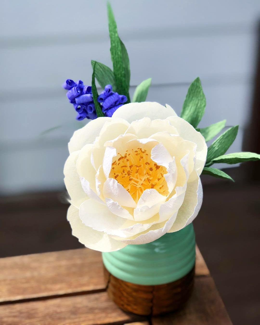 Single White Peony arrangement