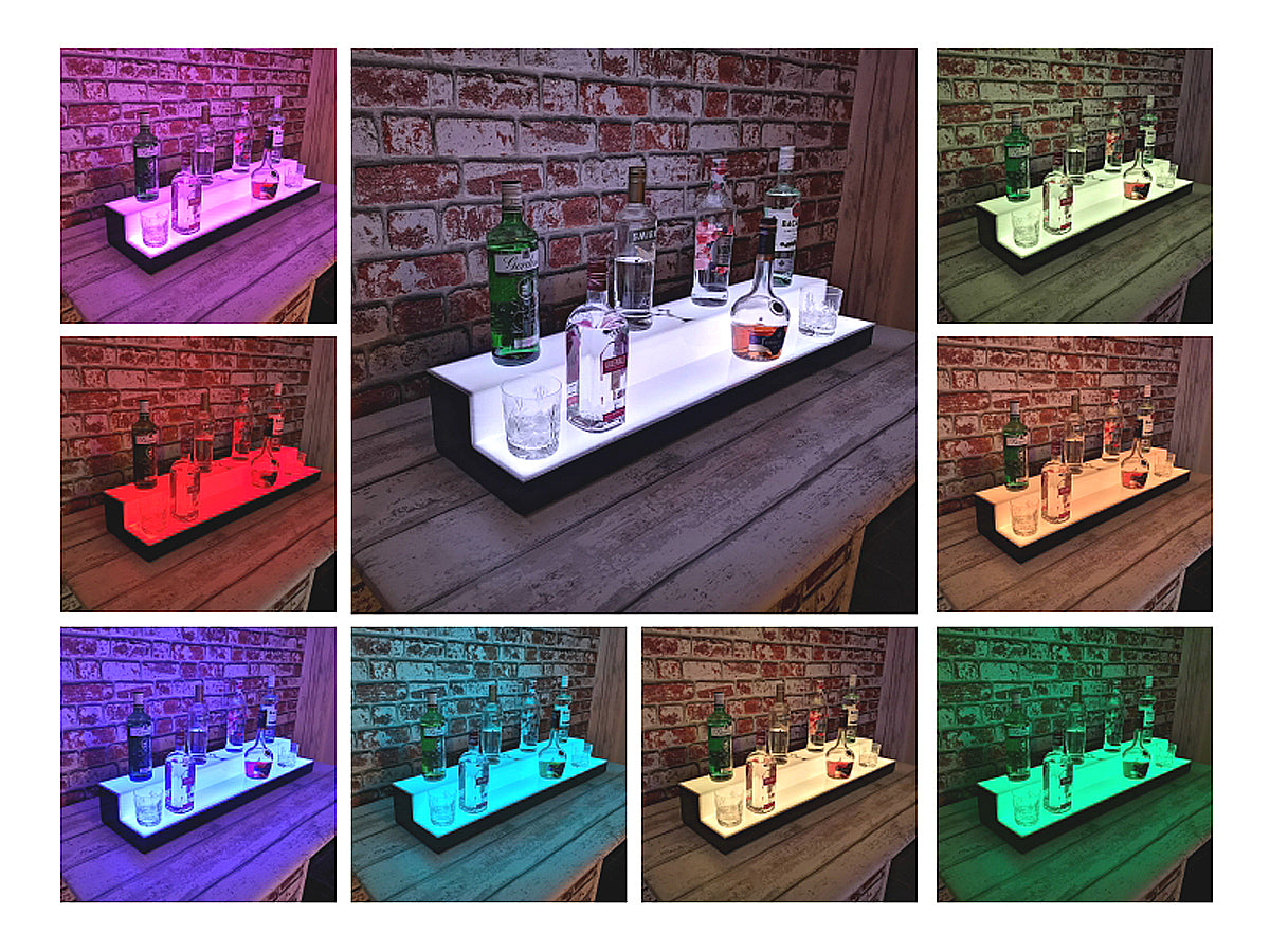 LED Lighted Bottle Display Stands Back Bar Presentation for