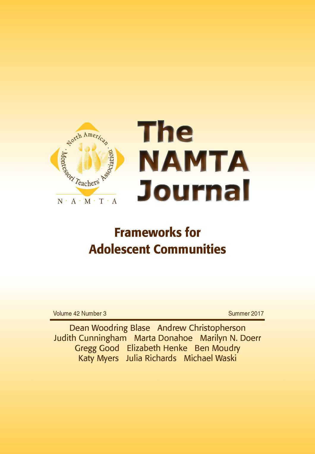 Vol 42, No 3: Frameworks for Adolescent Communities