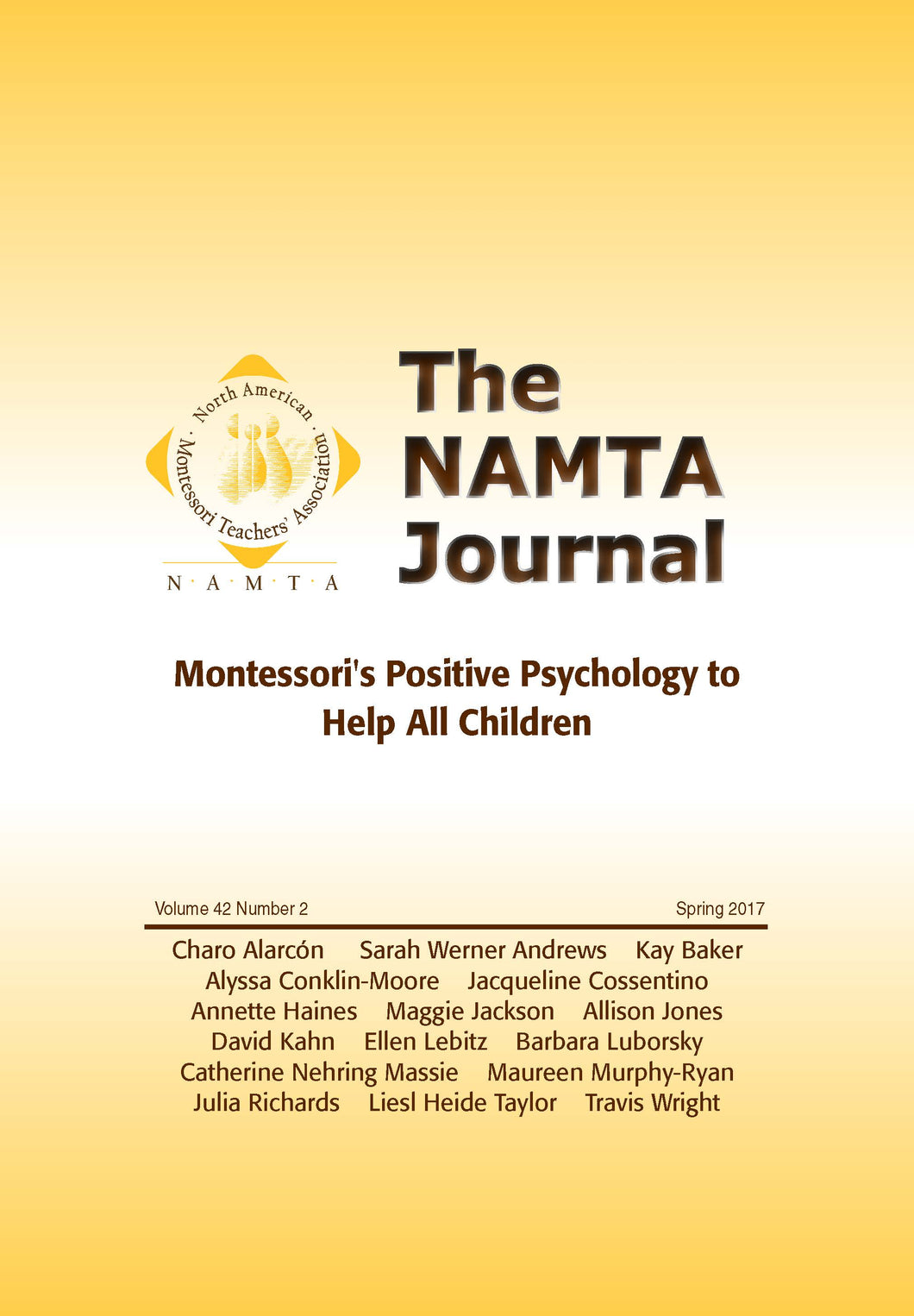 Vol 42, No 2: Montessori's Positive Psychology to Help All children