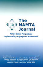 Vol 35, No 2: Whole School Perspectives: Implementing Language and Mathematics