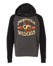 Load image into Gallery viewer, Retro Wildcats Raglan Hoodie (Youth)