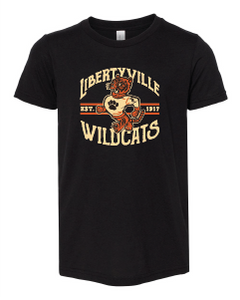 Retro Wildcats Tri-Blend Tee (Adult)