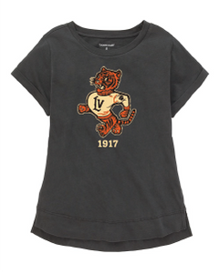 Retro Wildcats Girls' Distressed Tee