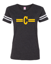 Load image into Gallery viewer, Women's V-Neck Vintage Football Tee
