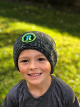 Load image into Gallery viewer, Elementary school boy in Rockland patch hat
