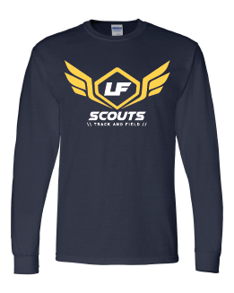 Navy long sleeve tee with scouts logo