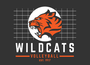 Libertyville Wildcats Volleyball Youth Digi Camo Performance Tee