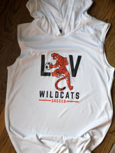 Load image into Gallery viewer, Youth Wildcats Sleeveless Performance Hoodie - White