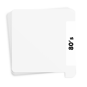 20 Pack White Vinyl Record Dividers